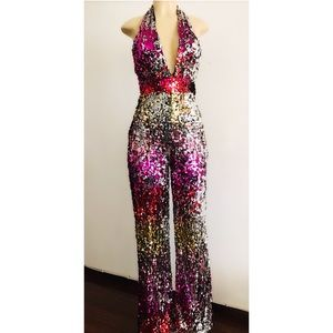 Pants - Sequins Jumpsuit